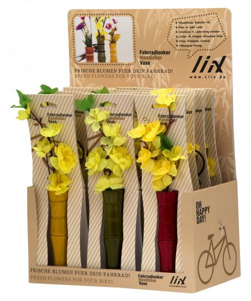 Liix Handlebar Vase Bamboo Display Equipped W 12 Vases Liix Your