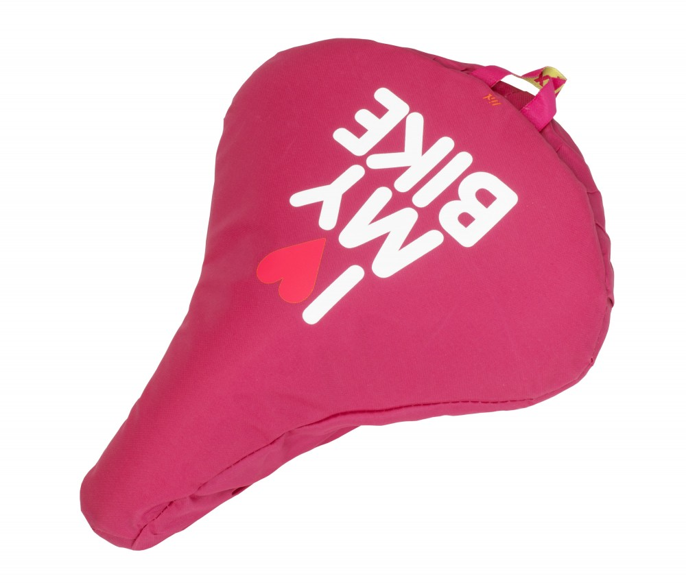 Liix Saddle Cover I Love My Bike Pink