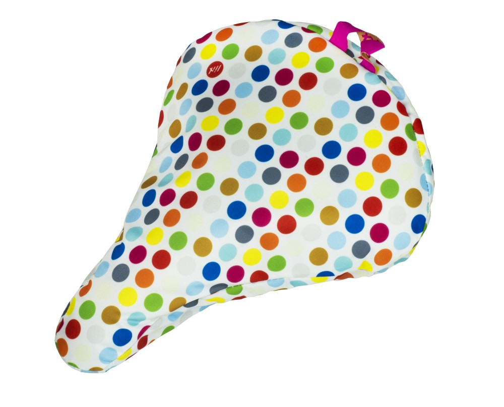 Liix Saddle Cover Polka Big Dots Mix White