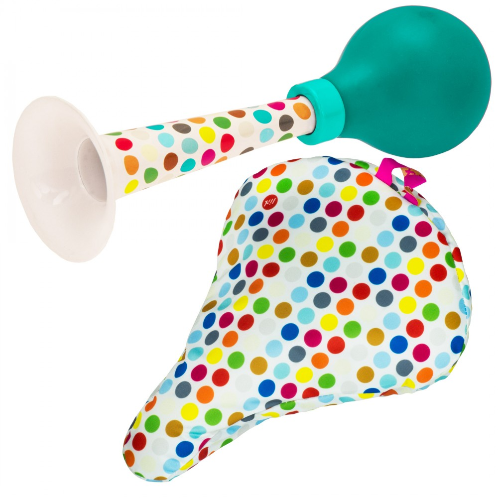 Liix Set Pretty Horn and Saddle Cover Polka Dots Mix