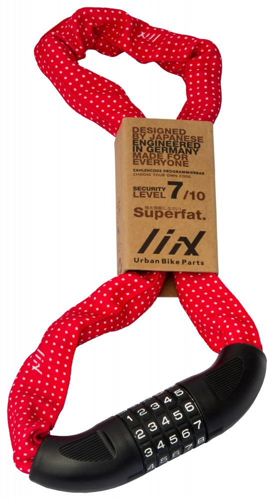 Liix Big Lock 85cm Polka Dots Red
